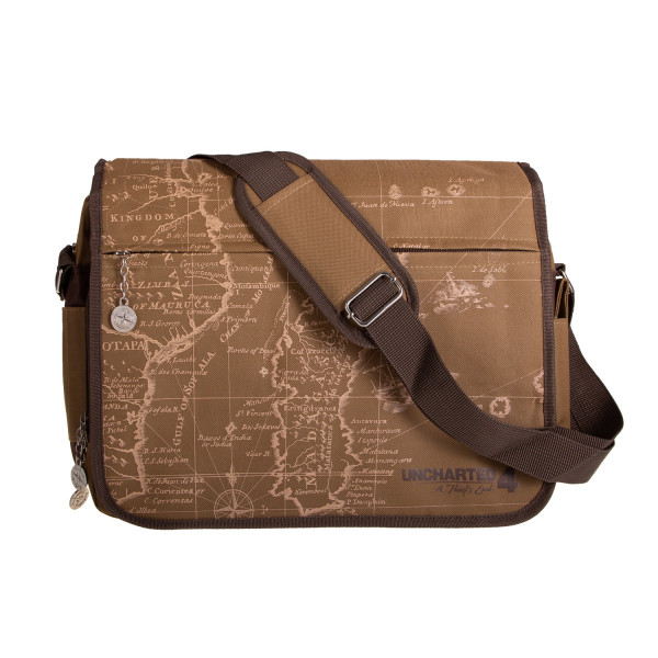 Uncharted 4  A Thief s End Messenger Bag Map  33ba6b08f5feb