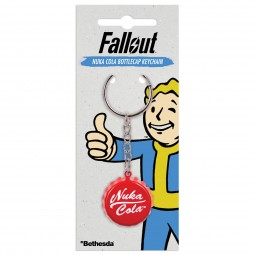 Fallout Keychain Nuka Cola Bottlecap