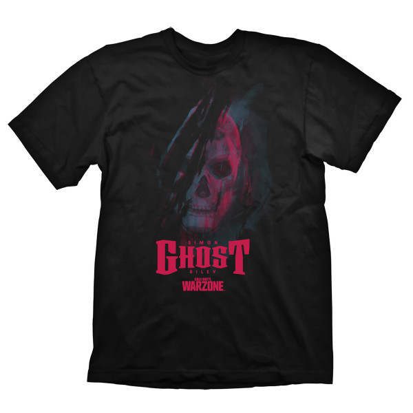 """Call of Duty: Warzone T-Shirt """"Ghost"""" black"""