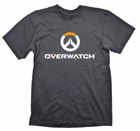 Overwatch T-Shirt Logo White/Orange on Grey