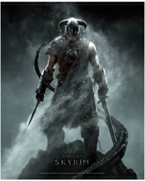 The Elder Scrolls V: Skyrim Wallscroll Dragonborn