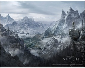 The Elder Scrolls V: Skyrim Wallscroll Valley