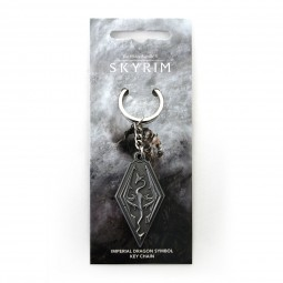 The Elder Scrolls V: Skyrim Keychain Dragon Symbol