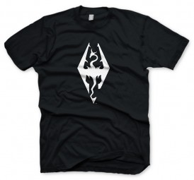 The Elder Scrolls V: Skyrim T-Shirt Dragon Symbol