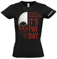Payday 2 Girlie-Shirt Wolf Mask