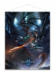 Starcraft Wallscroll Kerrigan and Nova