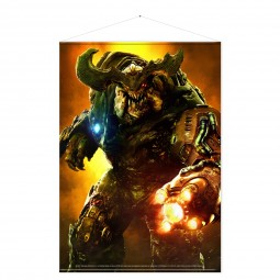 Doom Wallscroll Cyber Demon