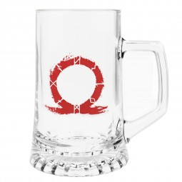 God of War Pint Glass Serpent Logo