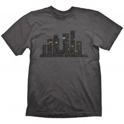 Cities Skylines T-Shirt Written Cities Charcoal