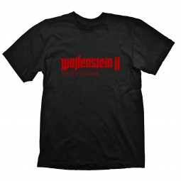 "Wolfenstein 2 T-Shirt ""Logo"" Red on Black"