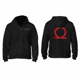 God of War Zip Hoodie Serpent Logo, Black